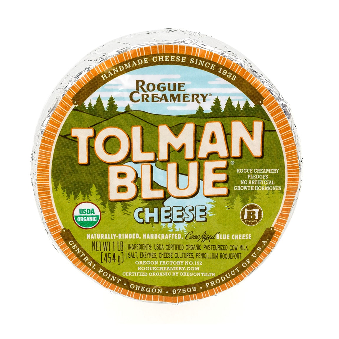 Rogue creamery tolman blue cheese packaging